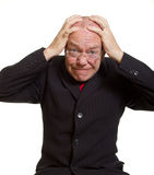 Expressive senior businessman Stock Photos