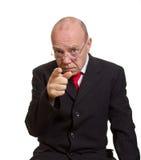 Expressive senior businessman Stock Photos
