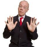 Expressive senior businessman Stock Image