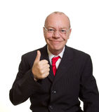 Expressive senior businessman Royalty Free Stock Photos