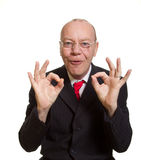 Expressive senior businessman Royalty Free Stock Photo