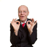 Expressive senior businessman Stock Image