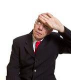 Expressive senior businessman Royalty Free Stock Images