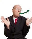 Expressive senior businessman royalty free stock image