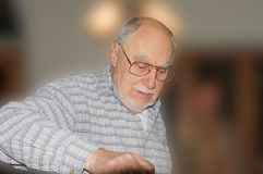 Expressive senior face Stock Photos