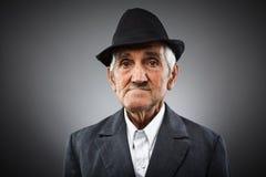 Expressive senior portrait Stock Images