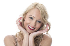 Expressive Smiling Attractive Young Woman Stock Photo