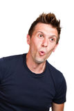 Expressive surprised man Royalty Free Stock Images