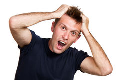 Expressive surprised man Royalty Free Stock Photography