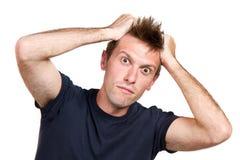 Expressive surprised man Stock Image