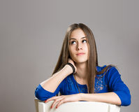 Expressive teen portrait. Royalty Free Stock Photo
