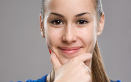 Expressive teen portrait. Royalty Free Stock Photography