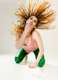 Expressive woman Royalty Free Stock Images
