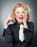 Expressive woman Stock Images