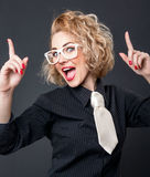 Expressive woman Royalty Free Stock Photography