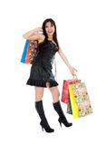 Expressive woman shopping Stock Photos