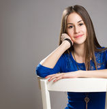 Expressive young beauty. Royalty Free Stock Photos