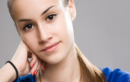 Expressive young beauty. Stock Photos