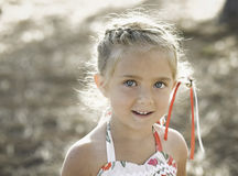 Expressive Young Girl in Soft Light stock photos