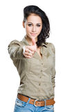 Expressive young woman. Stock Image