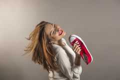 Expressive young woman Royalty Free Stock Photography