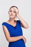 Expressive young woman. Royalty Free Stock Photos