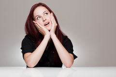 Expressive young woman. Royalty Free Stock Photo