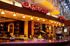 Expresso Bar on Cruiseship - Promenade. Interior onboard Navigator of the Seas taken in 2014 Royalty Free Stock Photography