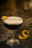 Expresso cofeee martini cocktail drink in bar stock image