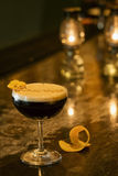 Expresso cofeee martini cocktail drink in bar Royalty Free Stock Images