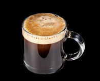 Expresso Coffee in glass cup Royalty Free Stock Photography