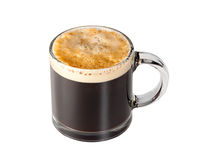 Expresso Coffee in glass cup stock image