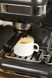 Expresso Coffee Maker. Espresso and Cappuccino coffee maker in action Stock Image