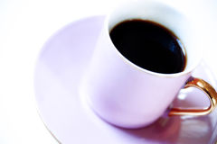 Expresso coffee in pink cup Royalty Free Stock Photos