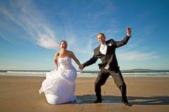 Expressão da felicidade do casal Foto de Stock Royalty Free
