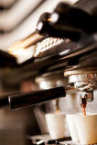 Expresso de machine de café Photos stock