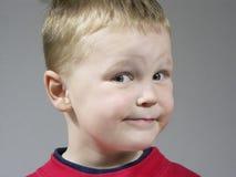 Expressão do menino Fotografia de Stock Royalty Free