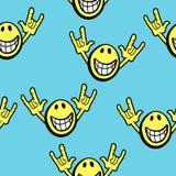 Expressão feliz sem emenda Fotos de Stock