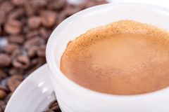 Expresso with foam Royalty Free Stock Photography