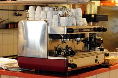 Expresso machine. An expresso machine in a restaurant stock image