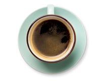 Expresso ou americano, tasse de café noir ci-dessus sur le fond blanc Photographie stock libre de droits