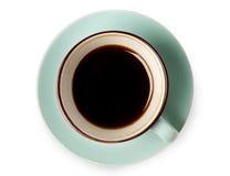Expresso ou americano, tasse de café noir ci-dessus sur le fond blanc Photos libres de droits