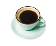 Expresso ou americano, tasse de café noir ci-dessus sur le fond blanc Photos stock
