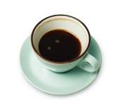 Expresso ou americano, tasse de café noir ci-dessus sur le fond blanc Photographie stock
