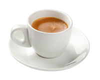 Expresso, tasse de café d'isolement sur le blanc photo stock