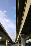 Expressway. Controlled-access highway, the highest-grade type of highway with access ramps, lane dividers, etc., for high-speed traffic Royalty Free Stock Image