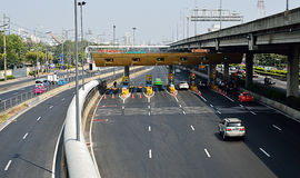 Expressway Din Dang 1 checkpoint in Bangkok City, Thailand Royalty Free Stock Photos