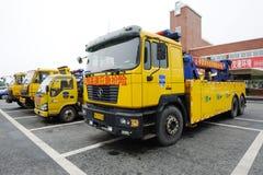 Expressway emergency rescue vehicles Stock Photos