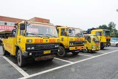 Expressway emergency rescue vehicles Royalty Free Stock Photo