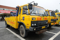 Expressway emergency rescue vehicles Stock Photography